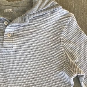 Michael Kors Shirts - Michael Kors Gray/White Striped Pullover Top